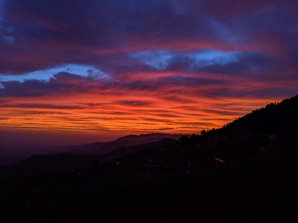 sunset at darjeeling