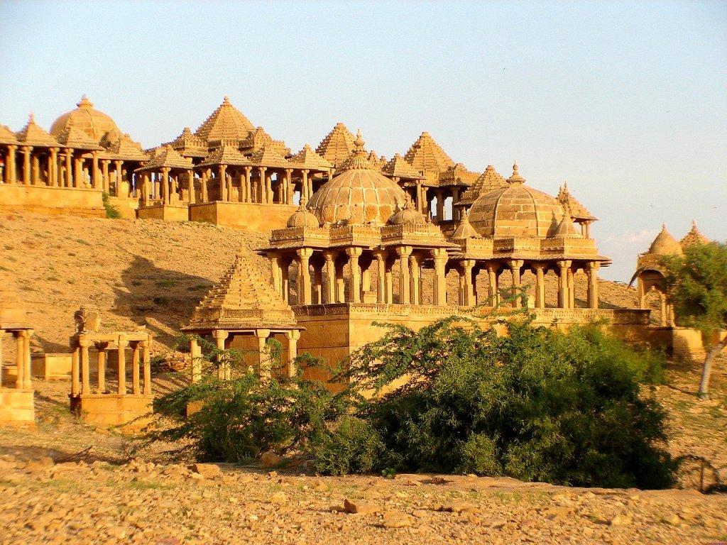 bada bagh in jaisalmer, rajasthan