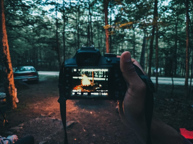 safely hiking with camera