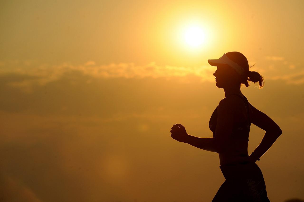 Women running in the dawn