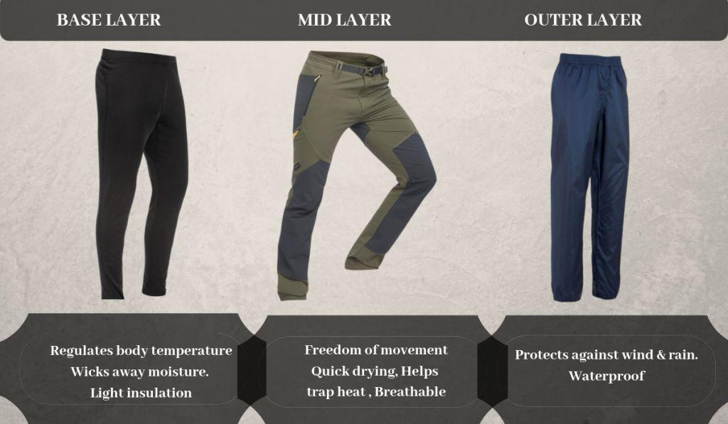 lower body layering for himalayan trek