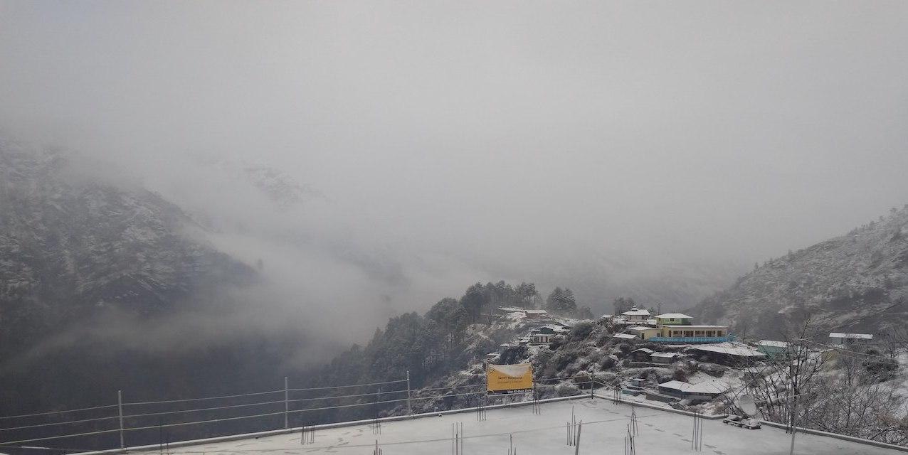 sankri village in winters