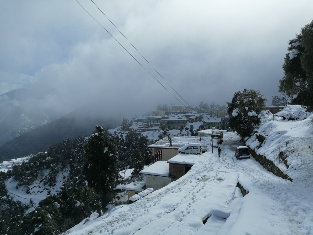 lohajung village covered in snow