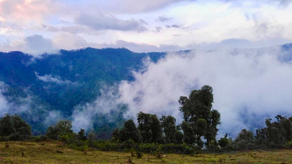 morning view during trek