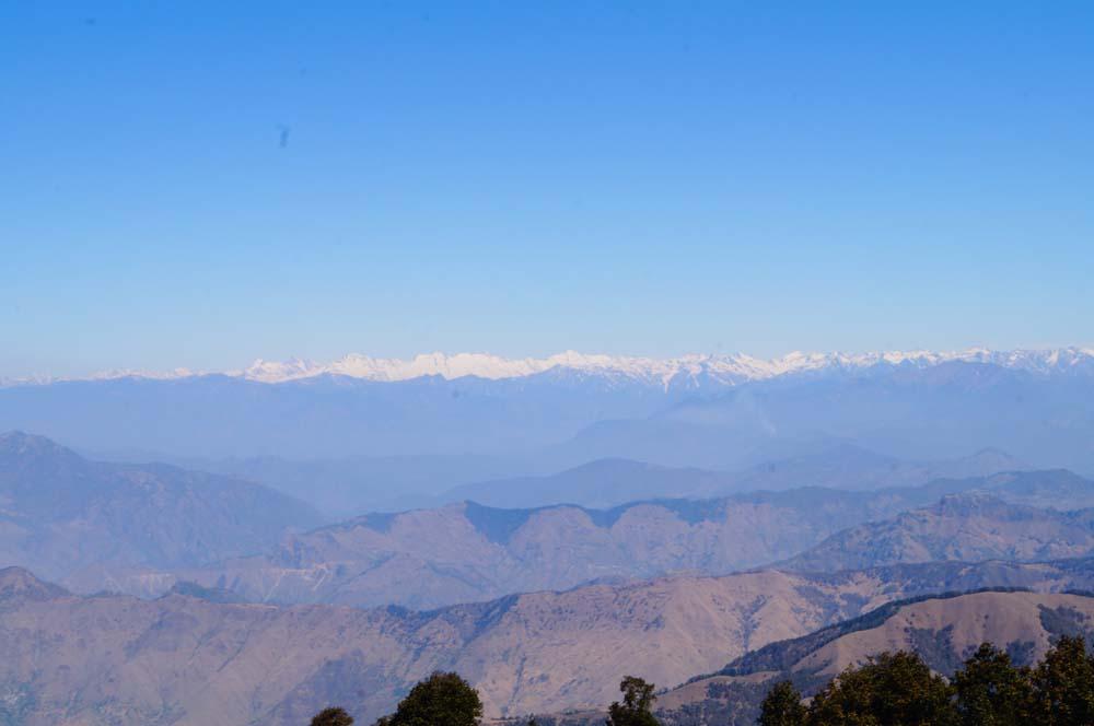view from nag tibba summit