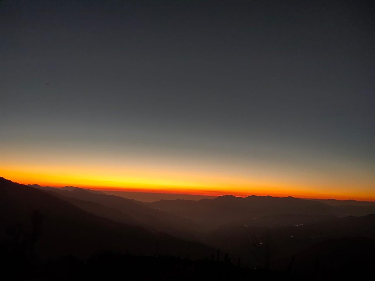 sunset from nag tibba
