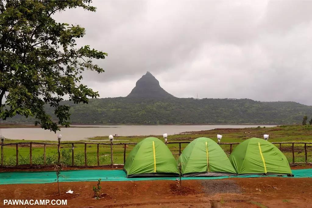 pawana lake side camping in mumbai