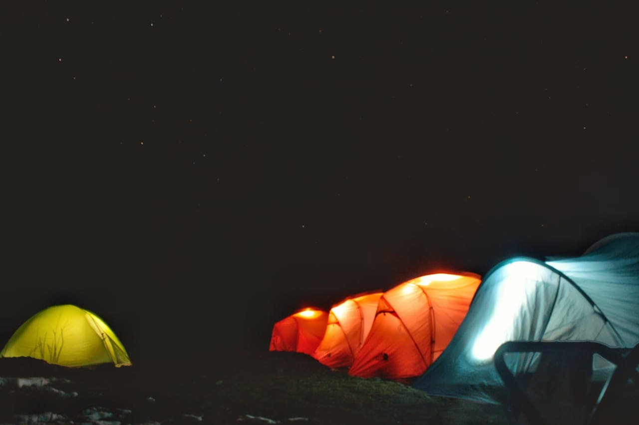 camping at himalayas
