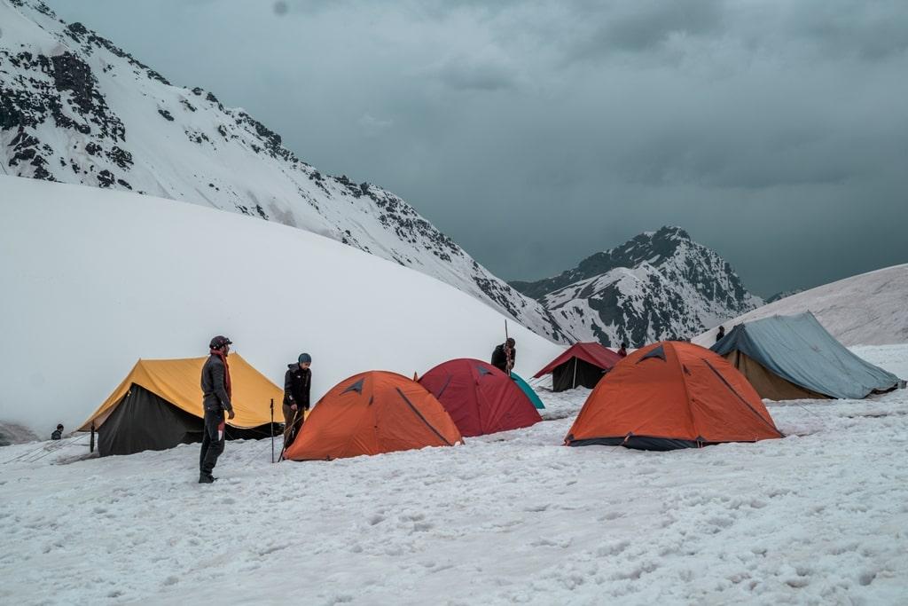campsite at rupin pass trek
