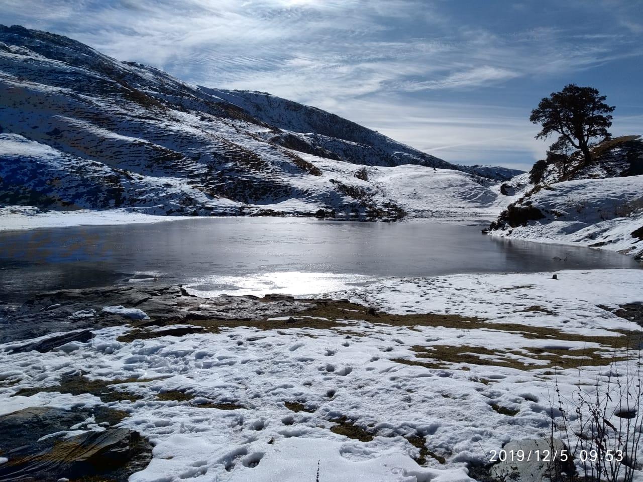 brahmatal lake in december