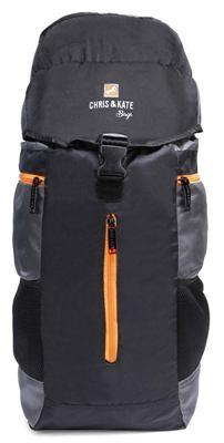 chris and kate black travel rucksack