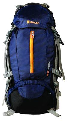 impulse inverse 65L blue rucksack