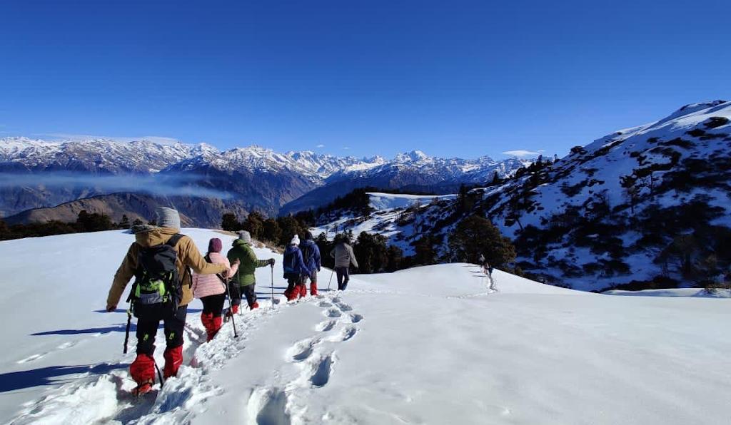 kedarkantha trek in winter